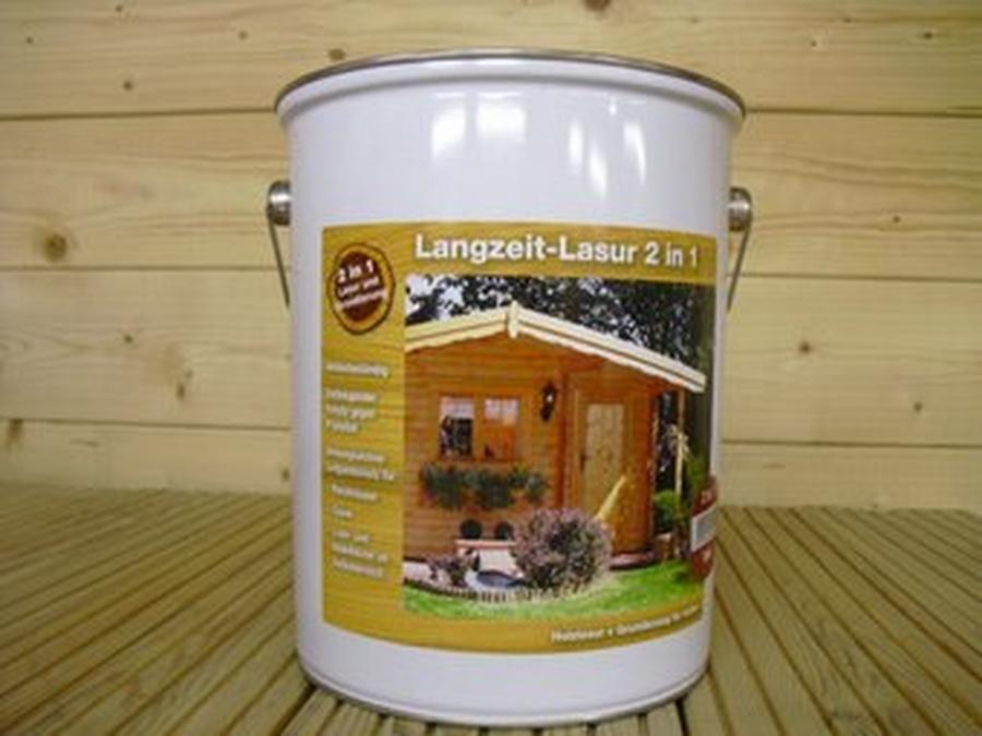 Langzeitlasur mit Grundierung 2in1 Palisander á 5 Liter